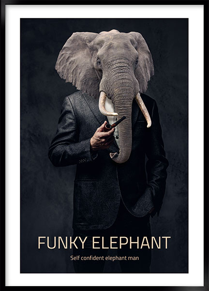 Posters - Funky elephant