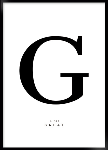 Posters - Letter G