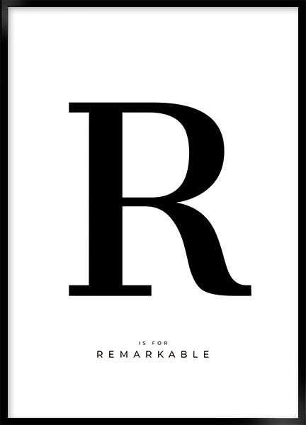 Posters - Letter R