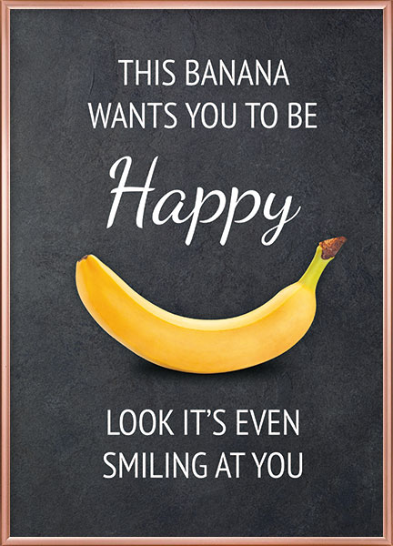 Posters - Happy banana