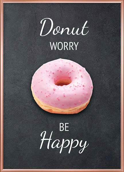 Posters - Donut worry be happy