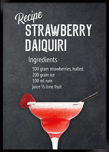 Posters - Strawberry daiquiri