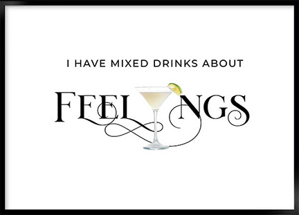 Posters - Drinks feelings