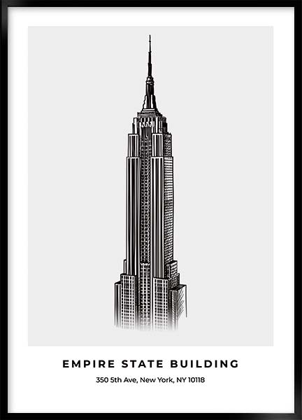 Posters - Empire state building
