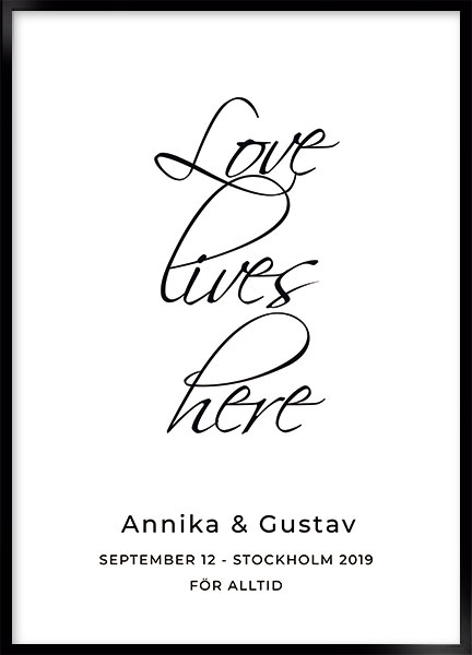 Posters - Love lives here