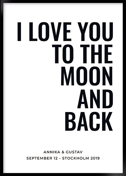 Posters - Love moon and back