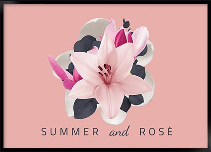 Posters - Summer and rose