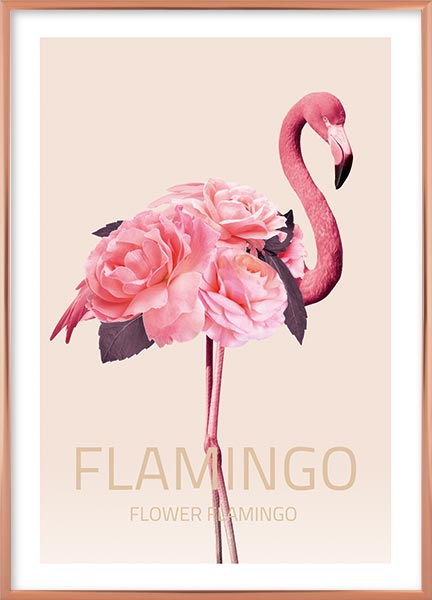 Posters - Flower flamingo no1