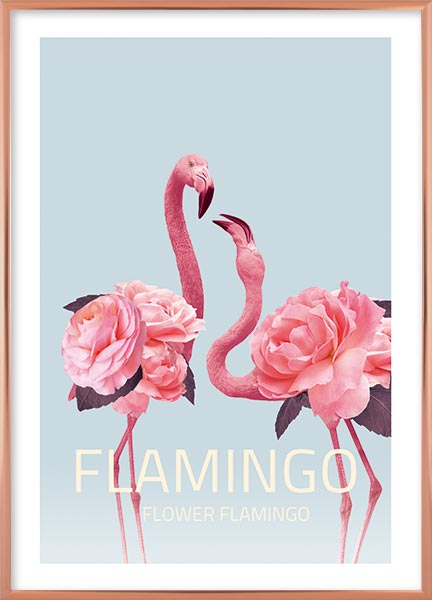 Posters - Flower flamingo no3